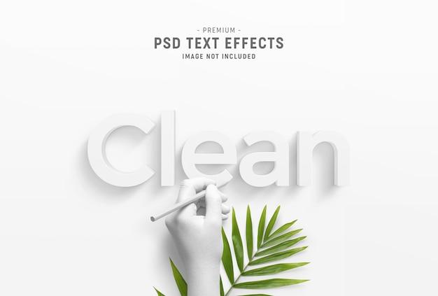 Estilo de efeito de texto limpo e mínimo em 3d