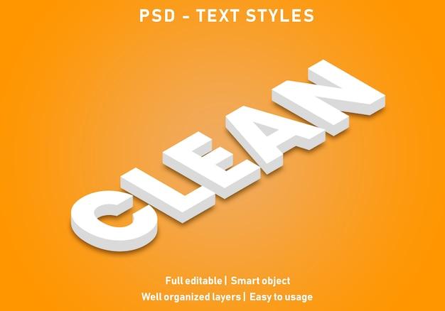 Estilo de efeito de texto limpo
