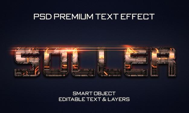 Estilo de efeito de texto soller scifi