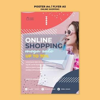 Estilo de folheto de compras online