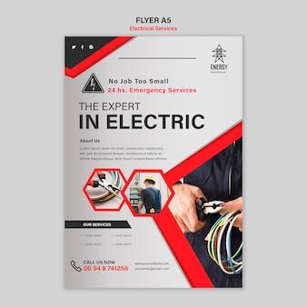 Estilo de folheto de serviços elétricos