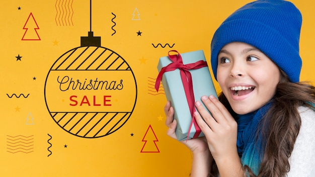 Estilo de memphis para a campanha de venda de natal