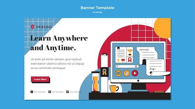 Estilo de modelo de banner de aprendizado on-line