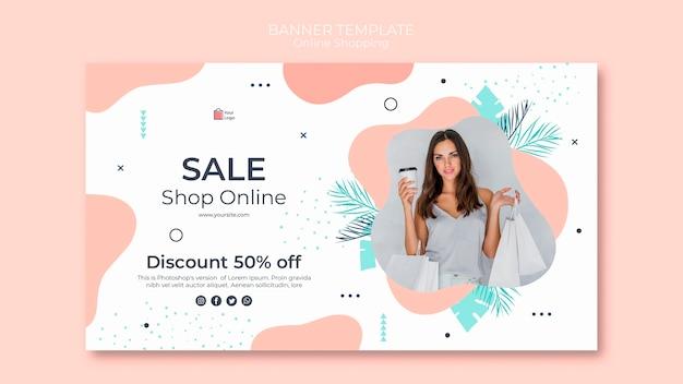 Estilo de modelo de banner de compras online