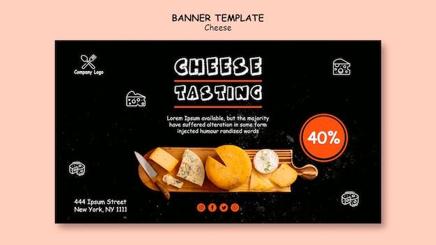 Estilo de modelo de banner de degustação de queijo