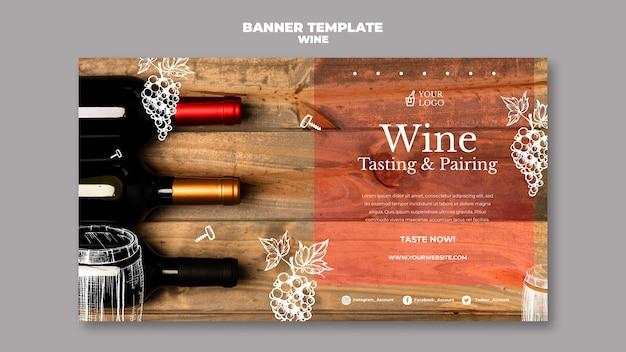 Estilo de modelo de banner de degustação de vinhos