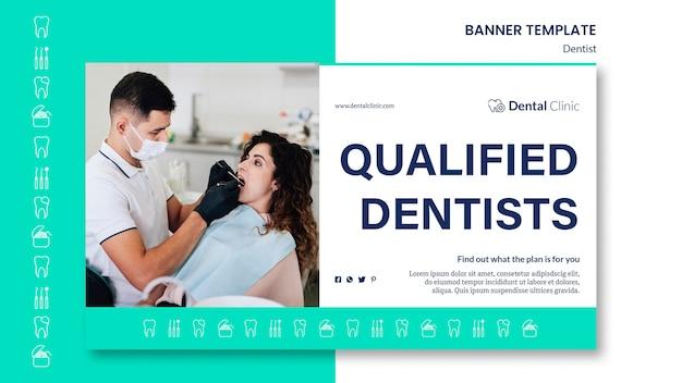 Estilo de modelo de banner de dentista