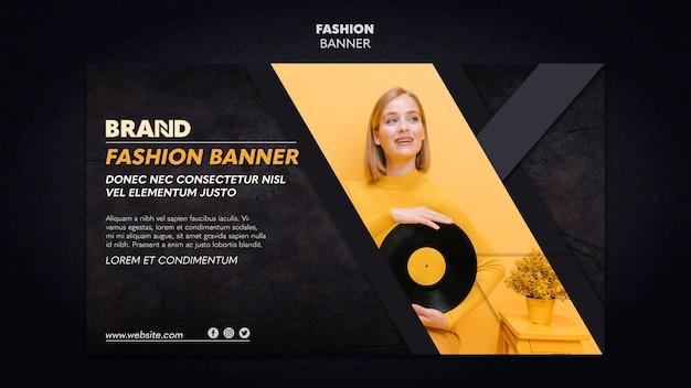 Estilo de modelo de banner de moda