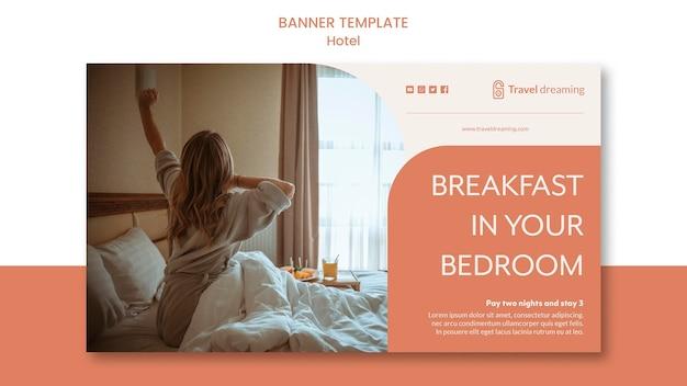 Estilo de modelo de banner do hotel