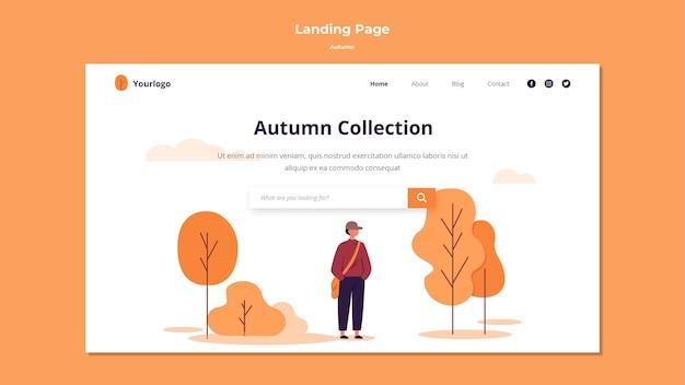 Estilo de modelo de página de destino de outono