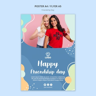 Estilo de modelo de panfleto de dia de amizade