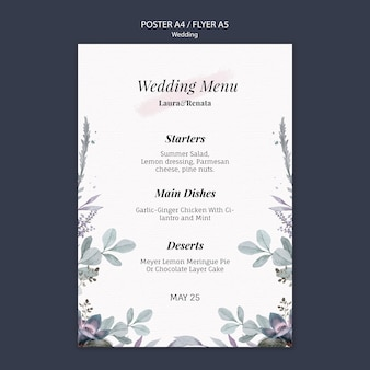 Estilo de modelo de panfleto de evento de casamento