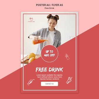 Estilo de panfleto de bebida grátis