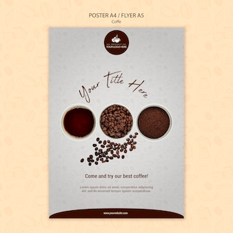 Estilo de panfleto de conceito de café Psd grátis