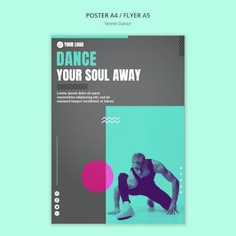 Estilo de panfleto de conceito de dança de rua
