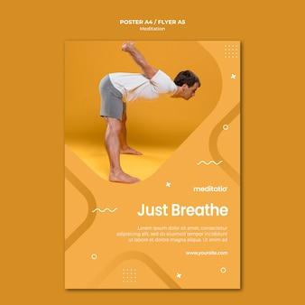 Estilo de panfleto de conceito de meditação