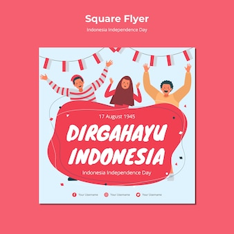 Estilo de panfleto de dia da independência da indonésia
