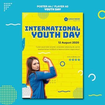 Estilo de panfleto de evento do dia da juventude