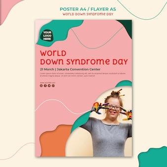 Estilo de pôster do dia da síndrome de down