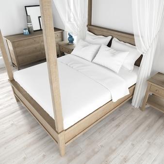 Estilo de quarto de cama interior moderno