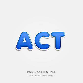 Estilo de texto 3d azul