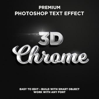 Estilo de texto 3d chrome
