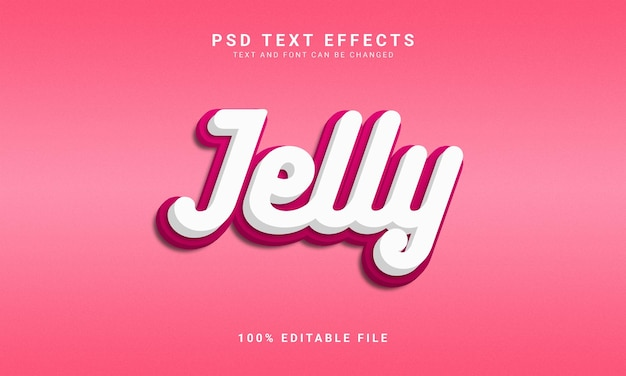 Estilo de texto 3d editável jelly