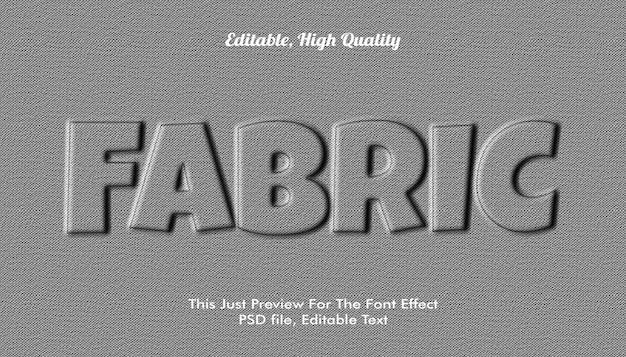 Estilo de texto 3d em tecido