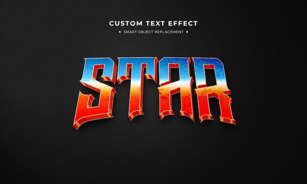 Estilo de texto 3d estrela