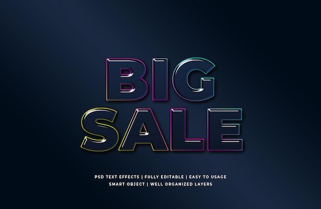 Estilo de texto 3d grande venda