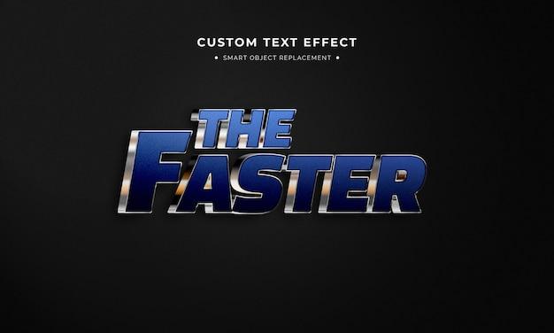 Estilo de texto 3d mais rápido