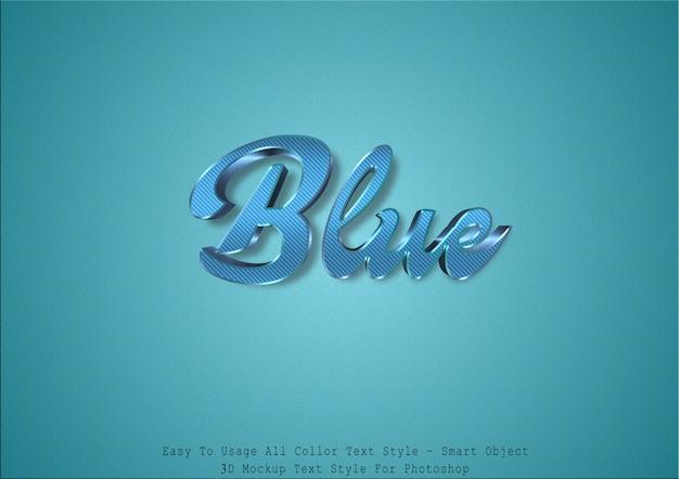 Estilo de texto azul 3d