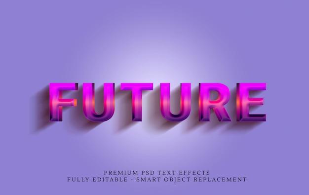 Estilo de texto futuro dos anos 80