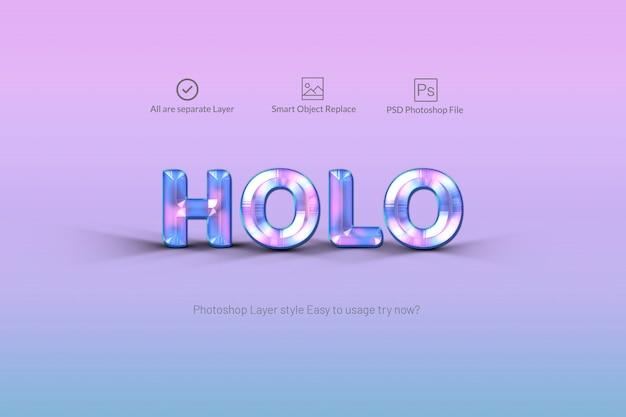 Estilo de texto holográfico