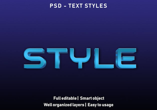 Estilo efeito de texto estilo