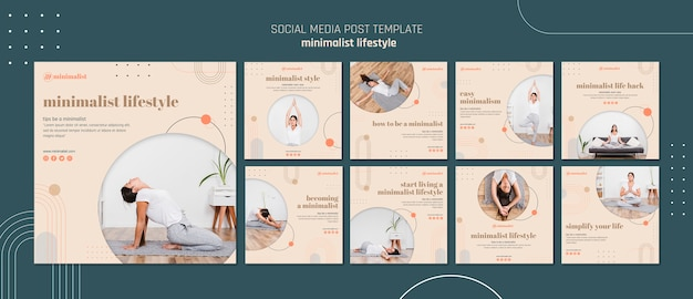 Estilo minimalista de mídia social