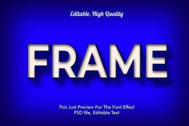 Estilo moderno efeito de fonte na moda 3d, maquete