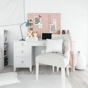 Estilo moderno quarto interior