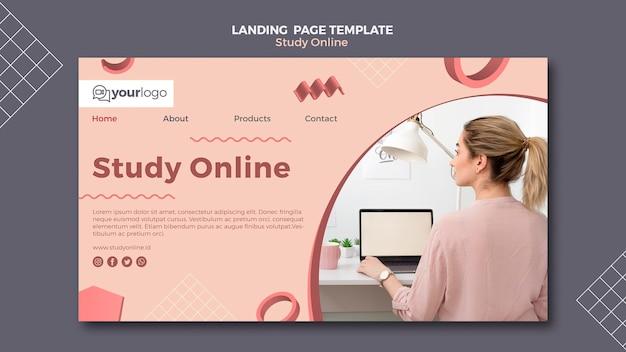 Estudar o design da página de destino on-line