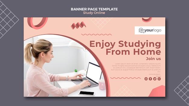 Estude o modelo de banner on-line