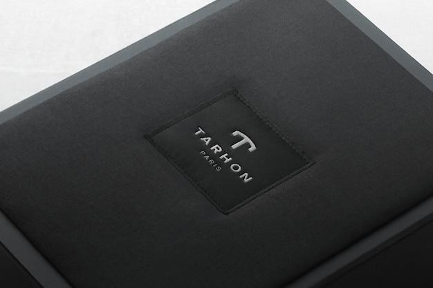 Etiqueta da caixa de maquete do logotipo