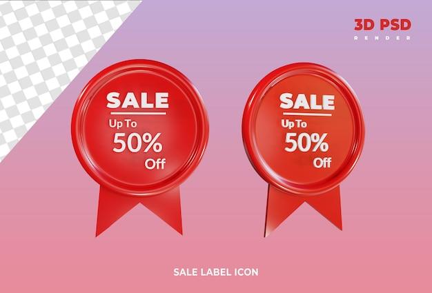Etiqueta de venda ícone de renderização 3d isolado