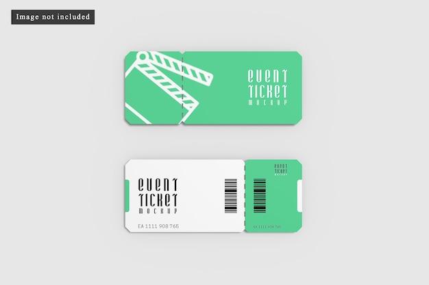 Even ticket mockup