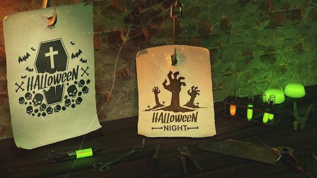 Evento de arranjo de noite de halloween