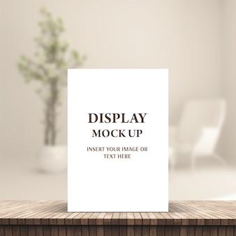 Exibição de maquete de produto editável 3d