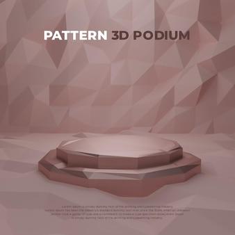 Exibição de promoção de produto padrão 3d realista pódio