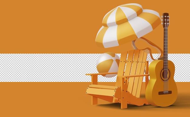 Exibir modelo de venda de verão, temporada de verão, renderização em 3d