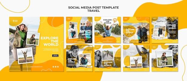 Explore a postagem de mídia social mundial