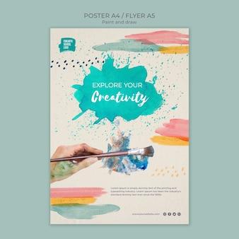 Explore o seu modelo de folheto - criatividade