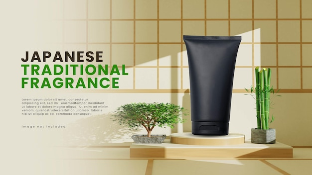 Expositor de produto japonês interor podium